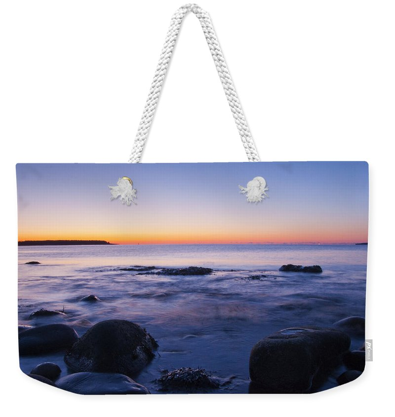 Acadia National Park Weekender Tote Bag featuring the photograph Blue Dawn Acadia National Park by Glenn Gordon