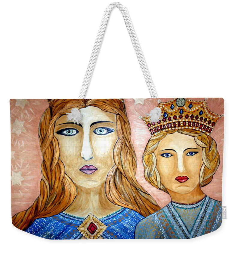 Primitive Weekender Tote Bag featuring the photograph Blue Eyes by Munir Alawi