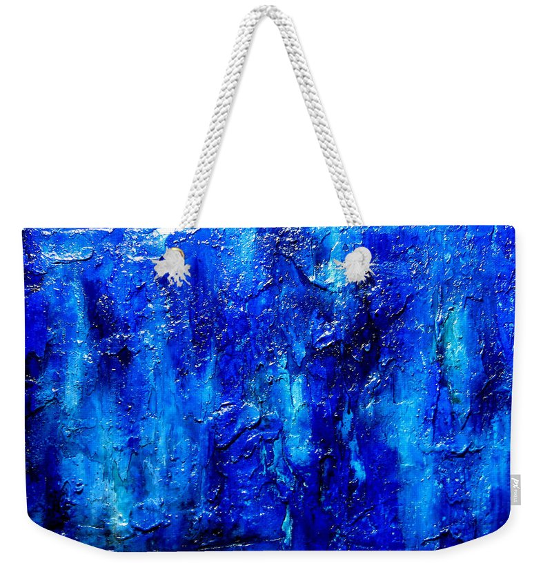 Surreal Prints Weekender Tote Bag featuring the painting Blue Lagoon 7 by Henry Parsinia