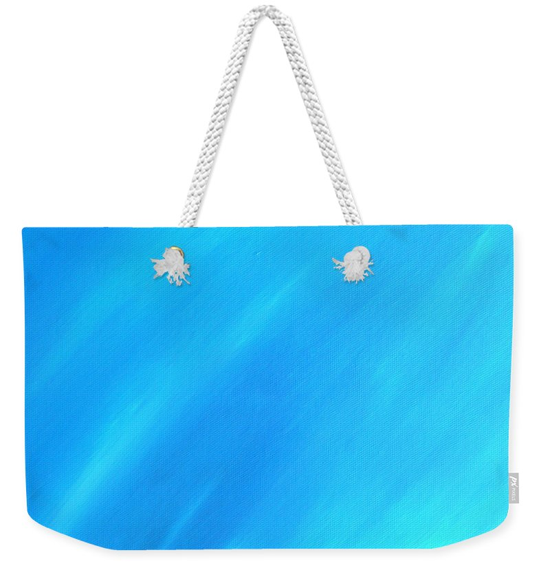 Blue Weekender Tote Bag featuring the painting Blue Moon by Peggy Starks