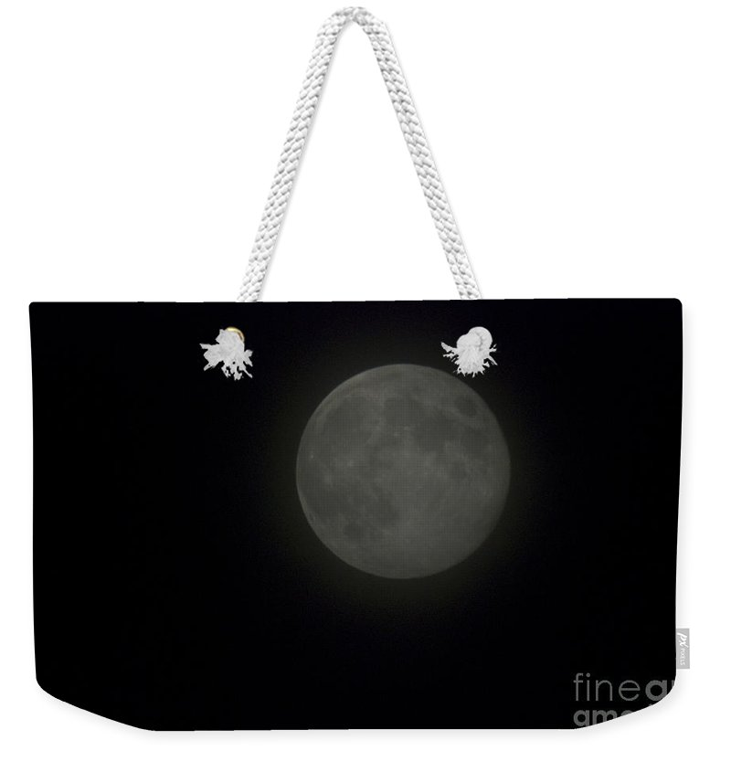 Full Moon Weekender Tote Bag featuring the photograph Blue Moon by Thomas Woolworth
