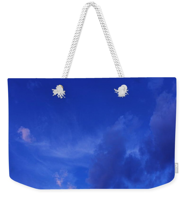 Blue Weekender Tote Bag featuring the photograph Blue Sky Always by Kume Bryant
