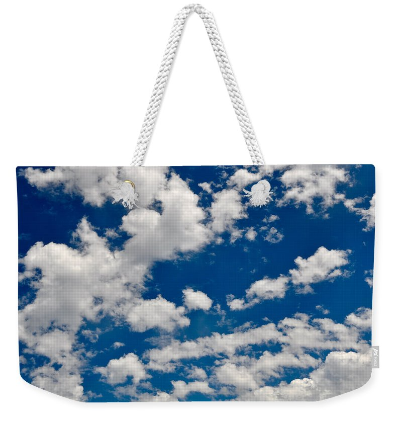 Nature Weekender Tote Bag featuring the photograph Blue Sky And Clouds by Brandon Bourdages