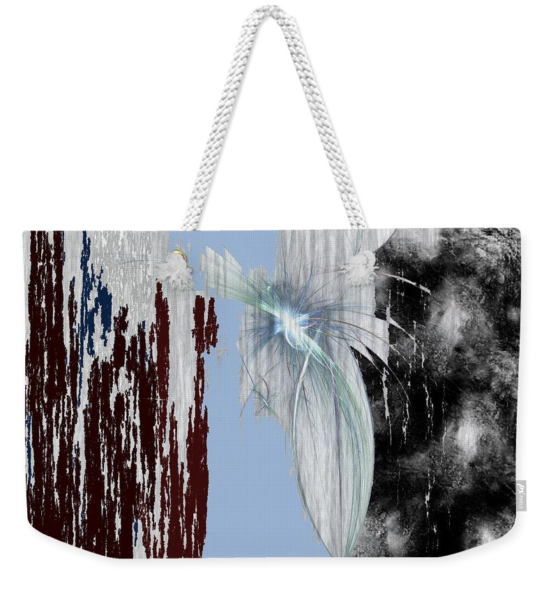 Abstract Weekender Tote Bag featuring the digital art Blue Sky by Maciek Froncisz