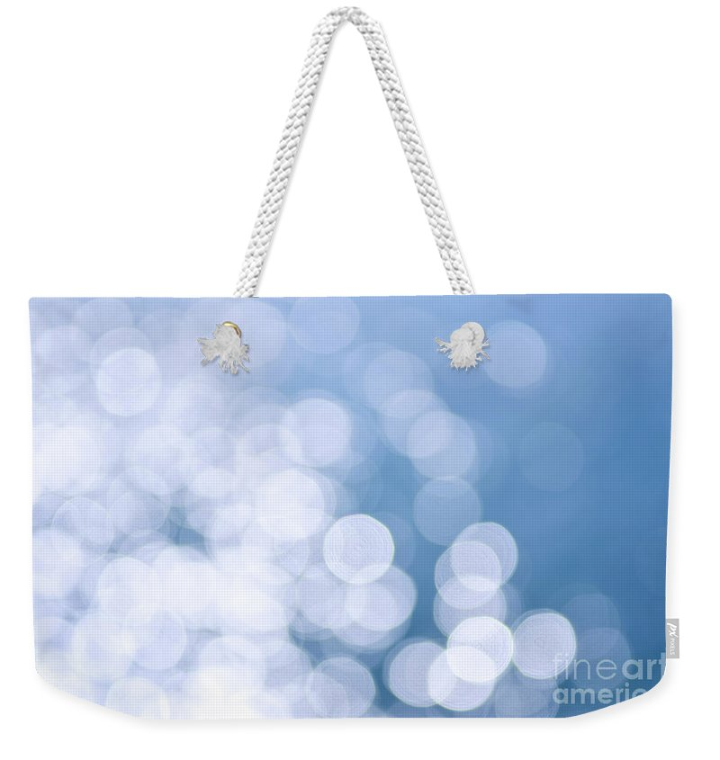 Blue Weekender Tote Bag featuring the photograph Blue Water And Sunshine Abstract by Elena Elisseeva