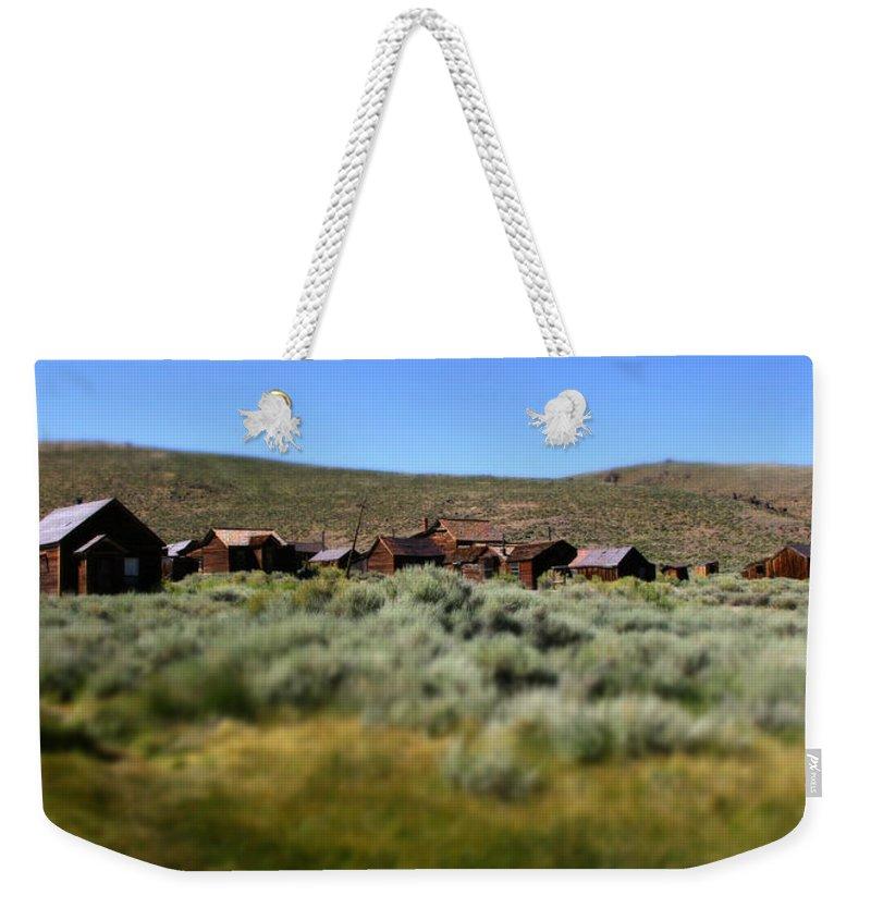 Bodie Ghost Town Landscape Weekender Tote Bag featuring the photograph Bodie Ghost Town Landscape by Chris Brannen