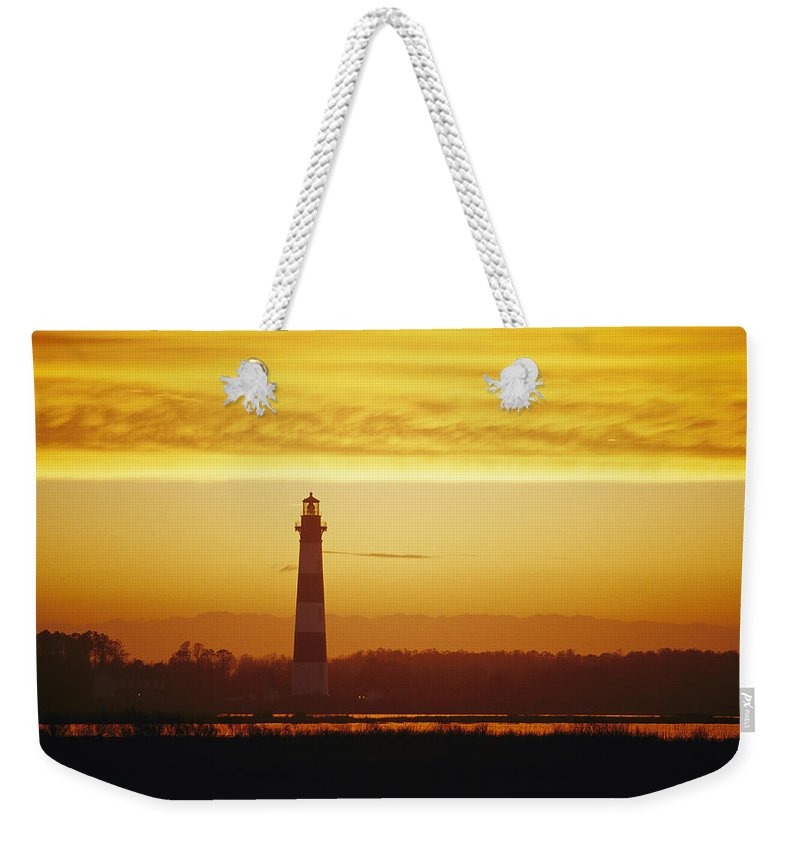 Structures Weekender Tote Bag featuring the photograph Bodie Island Lighthouse, Oregon Inlet by Skip Brown