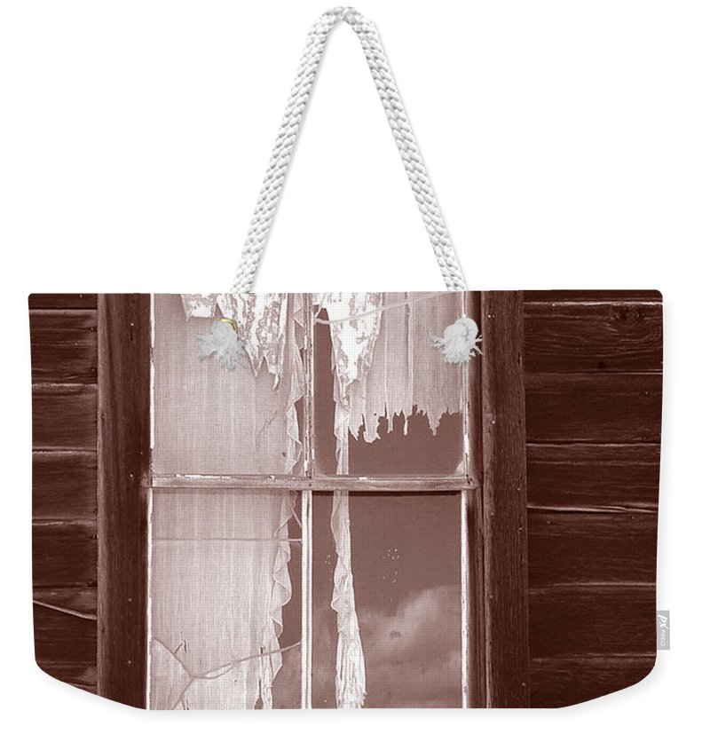 Bodie Weekender Tote Bag featuring the photograph Bodie Window by Mauverneen Blevins