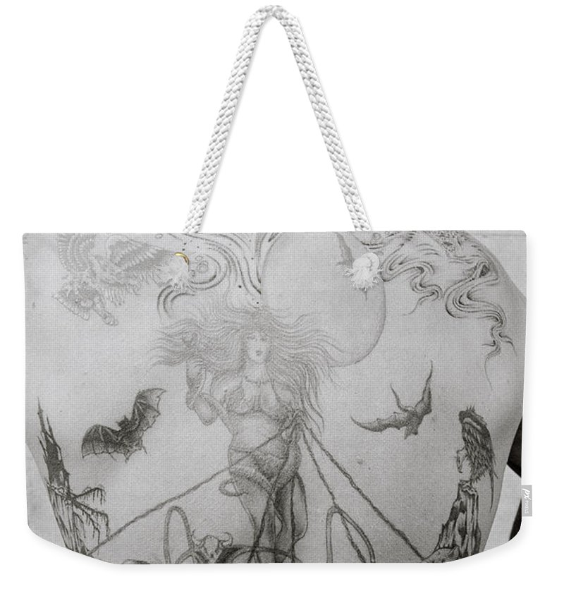Tattoo Weekender Tote Bag featuring the photograph Body Art by Shaun Higson