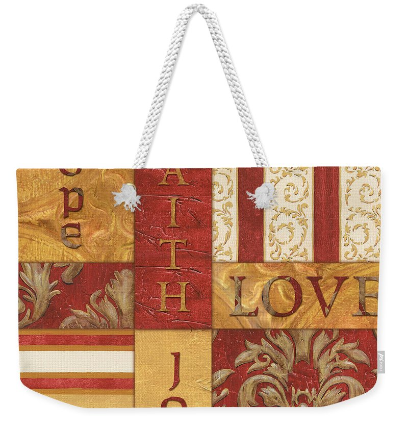 Inspiration Weekender Tote Bag featuring the painting Bohemian Red Spice 1 by Debbie DeWitt