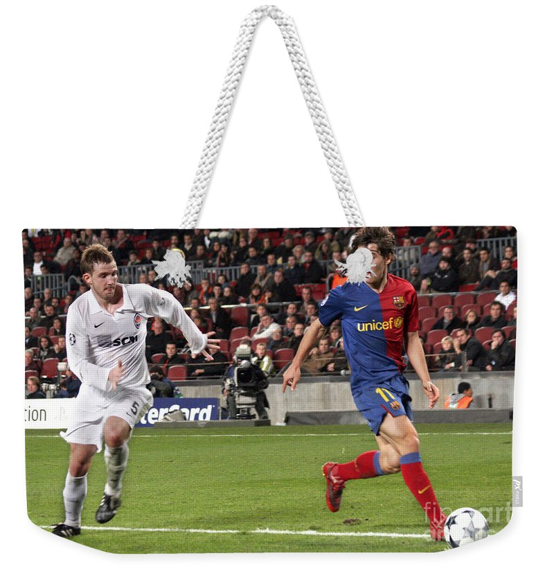 Bojan Weekender Tote Bag featuring the photograph Bojan Krkic Stroke 2 by Agusti Pardo Rossello
