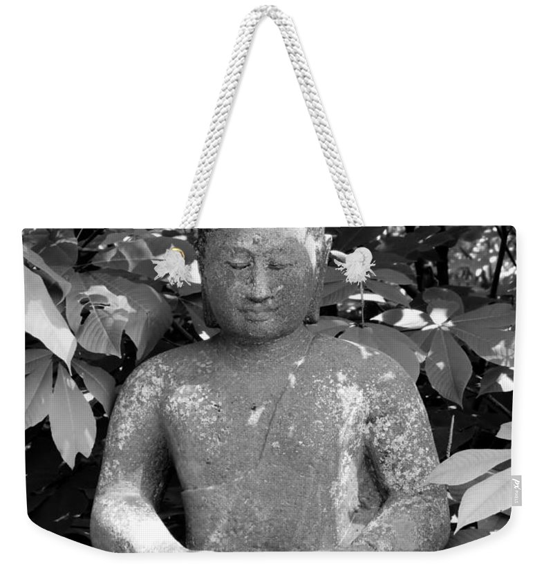 Nature Photographs Weekender Tote Bag featuring the photograph Bold Buddah by Art Dingo