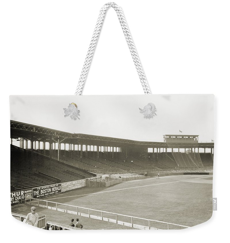1912 Weekender Tote Bag featuring the photograph Boston: Fenway Park, 1912 by Granger