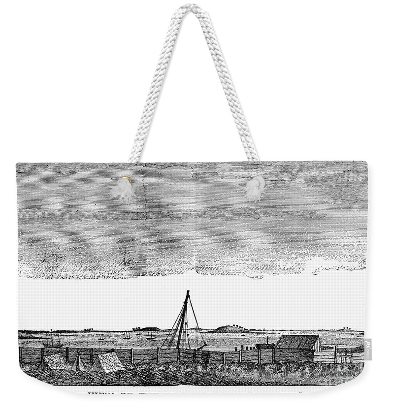 1776 Weekender Tote Bag featuring the photograph Boston Harbor, 1776 by Granger