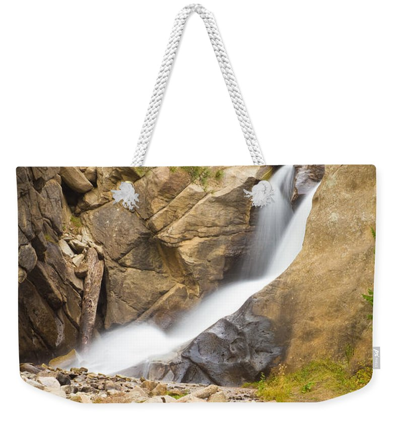 Boulder Weekender Tote Bag featuring the photograph Boulder Colorado Boulder Falls by James BO Insogna