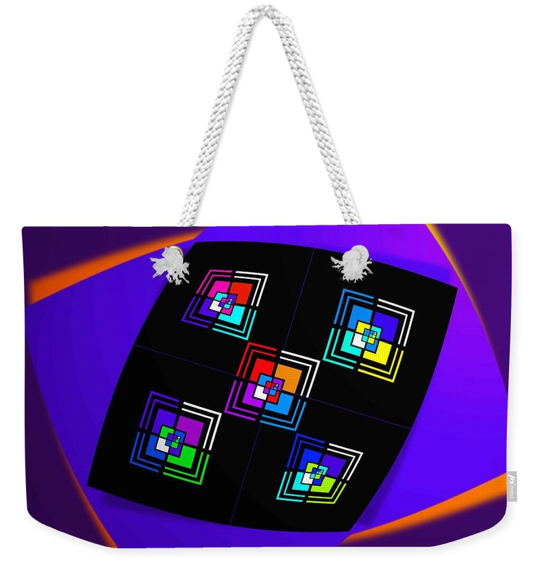 Bow Weekender Tote Bag featuring the painting Bow by Charles Stuart