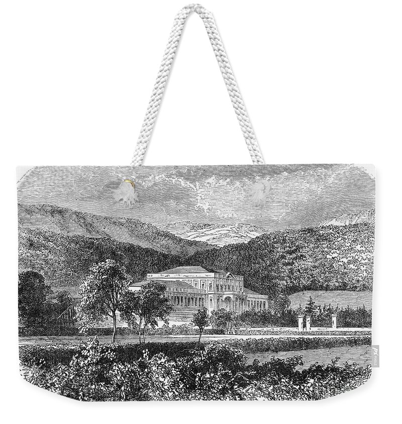 19th Century Weekender Tote Bag featuring the photograph Brazil: Emperors Palace by Granger