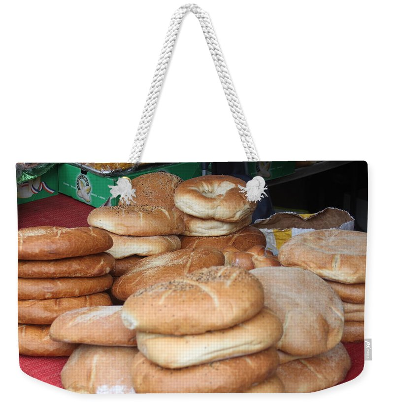 Bread Weekender Tote Bag featuring the photograph Bread by Mauverneen Blevins