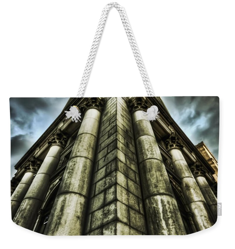 City Hall Weekender Tote Bag featuring the photograph Break On Through by Evelina Kremsdorf