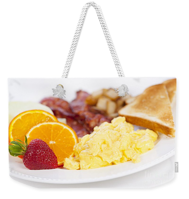Scrambled Eggs Photographs Weekender Tote Bags