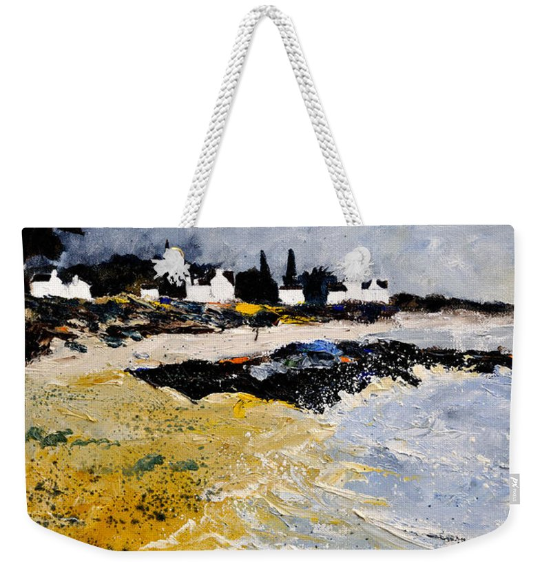Sescape Weekender Tote Bag featuring the painting Bretagne Sascape by Pol Ledent