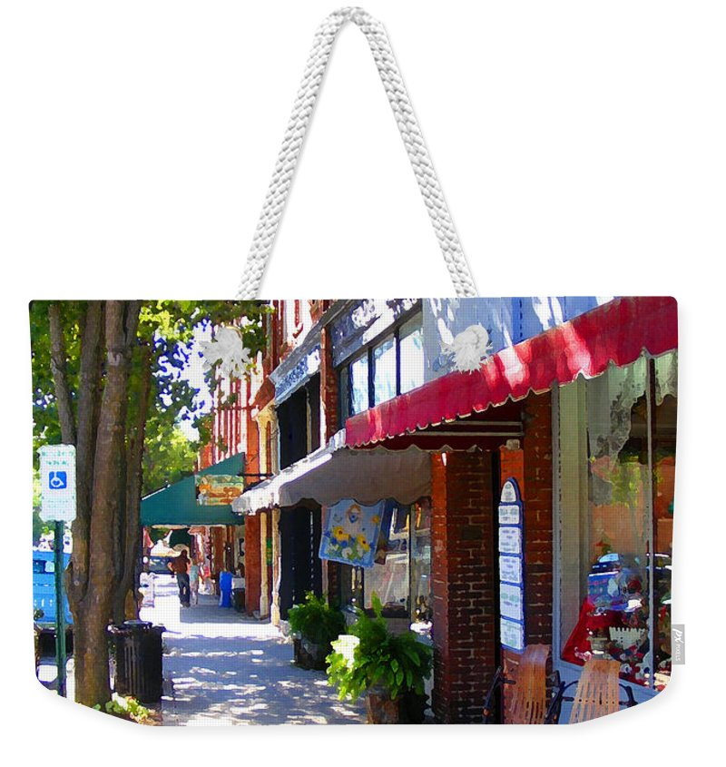 Brevard Weekender Tote Bag featuring the photograph Brevard Downtown Filtered by Duane McCullough