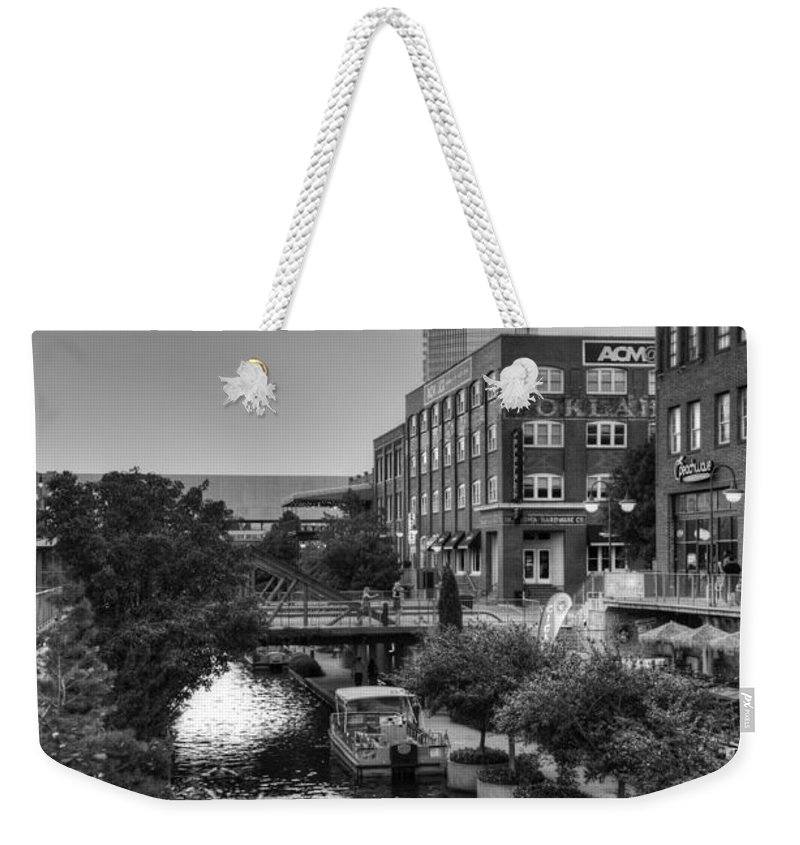 Bricktown Weekender Tote Bag featuring the photograph Bricktown Canal II by Ricky Barnard