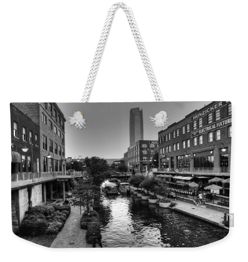 Bricktown Weekender Tote Bag featuring the photograph Bricktown Canal by Ricky Barnard