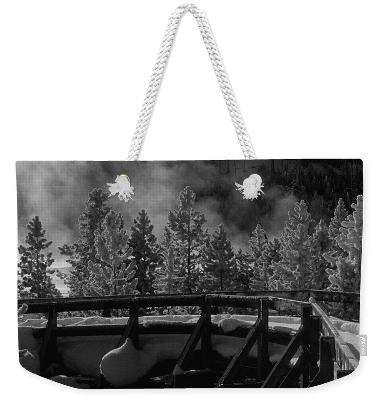 Sandra Bronstein Weekender Tote Bag featuring the photograph Bridge In Mud Volcano Area by Sandra Bronstein