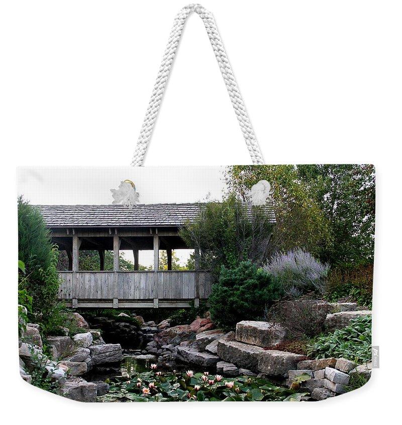 Bridge Weekender Tote Bag featuring the photograph Bridge Over Water by Elizabeth Winter