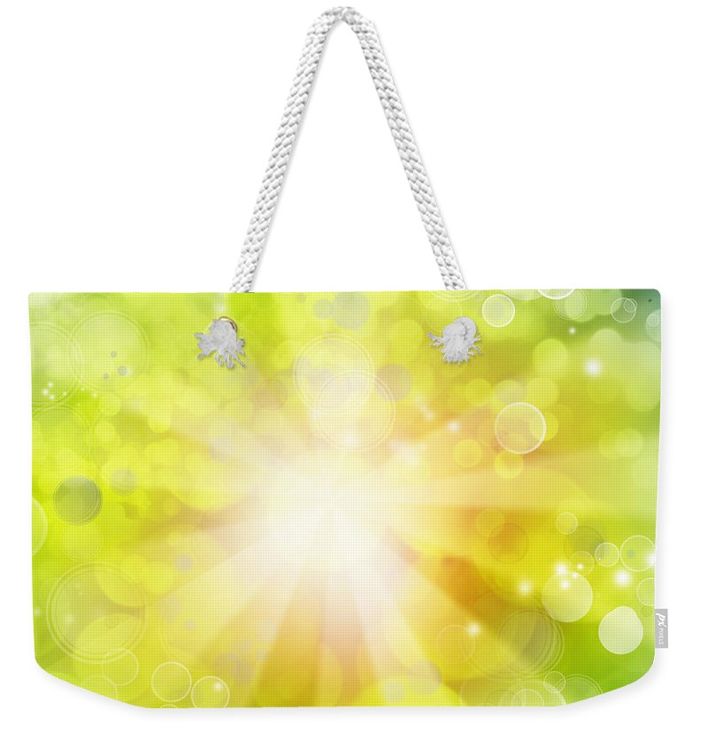 Streaks Weekender Tote Bag featuring the photograph Bright Background by Les Cunliffe
