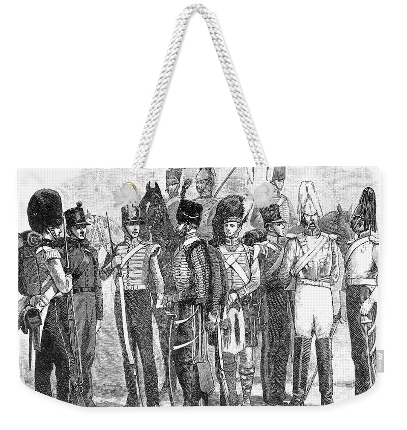 1855 Weekender Tote Bag featuring the photograph British Army, 1855 by Granger