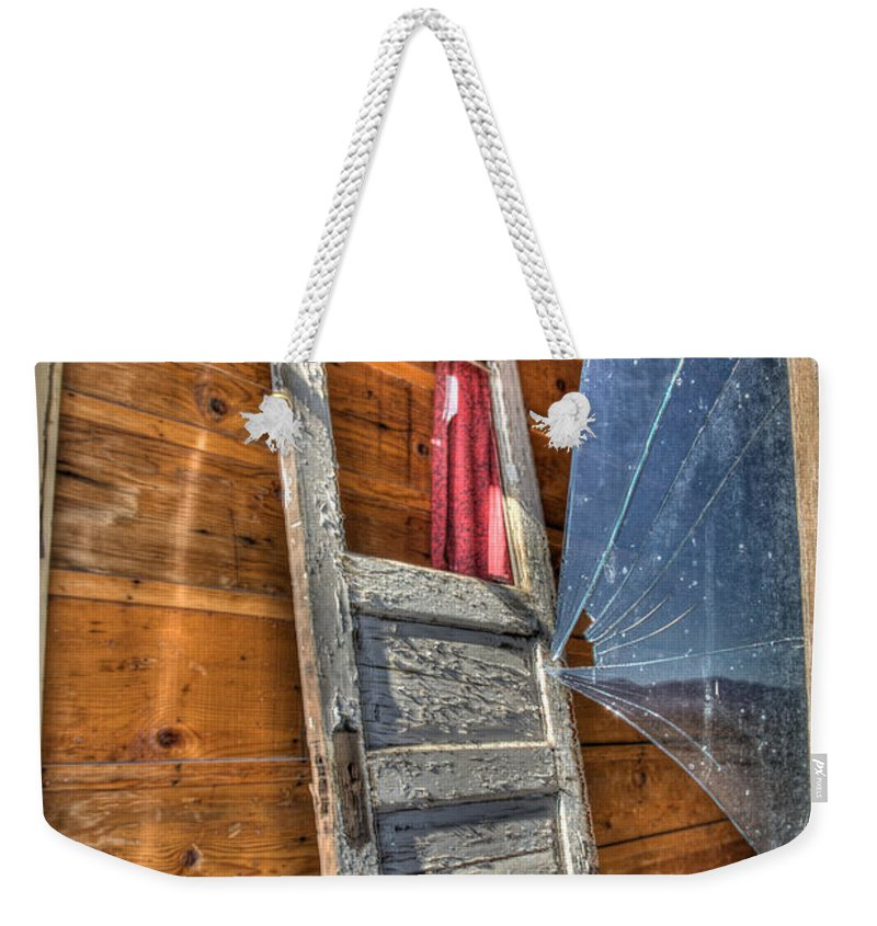 Architecture Weekender Tote Bag featuring the photograph Broken Window by Peter Tellone