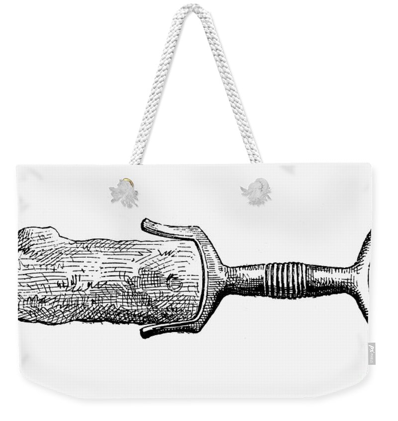 Ancient Weekender Tote Bag featuring the photograph Bronze Age Sword by Granger