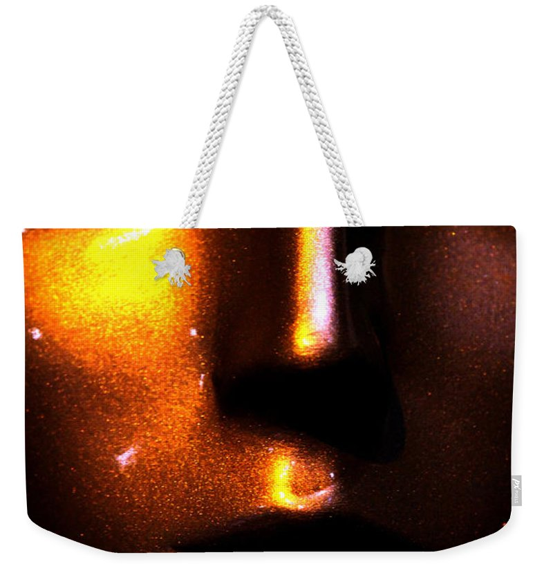 Face Weekender Tote Bag featuring the photograph Bronze Likeness by Marie Jamieson