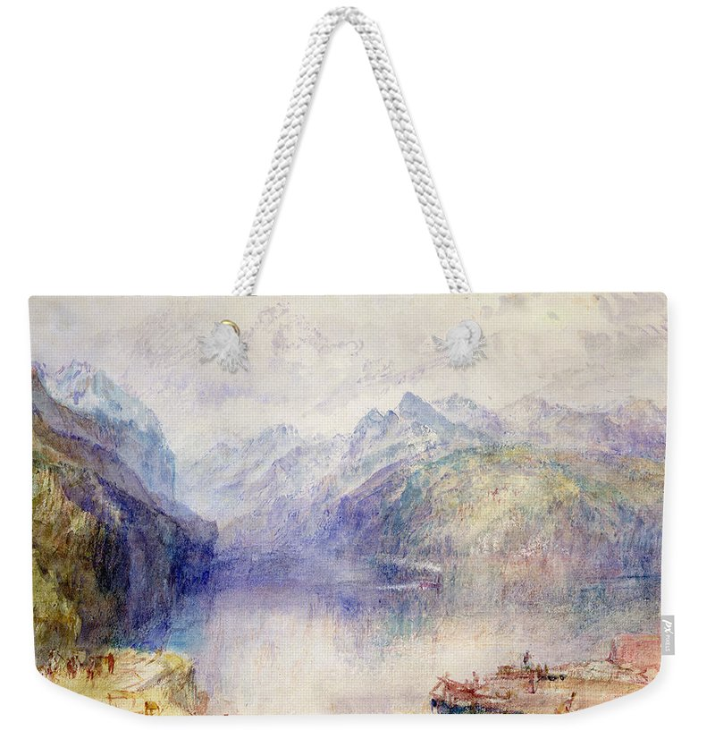 Brunnen Weekender Tote Bag featuring the painting Brunnen by Joseph Mallord William Turner