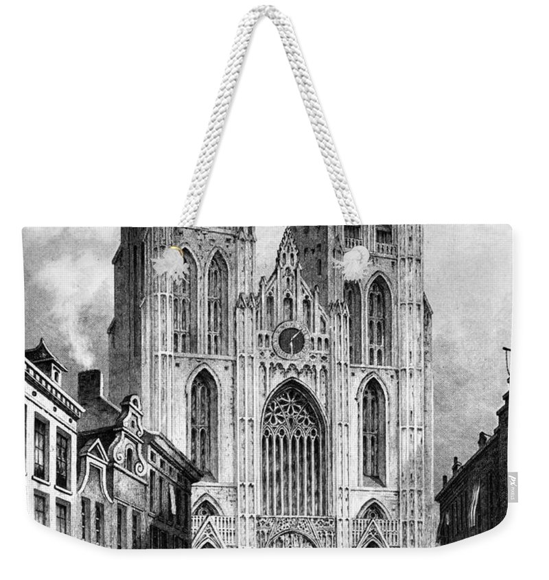 1838 Weekender Tote Bag featuring the photograph Brussels: Cathedral, 1838 by Granger