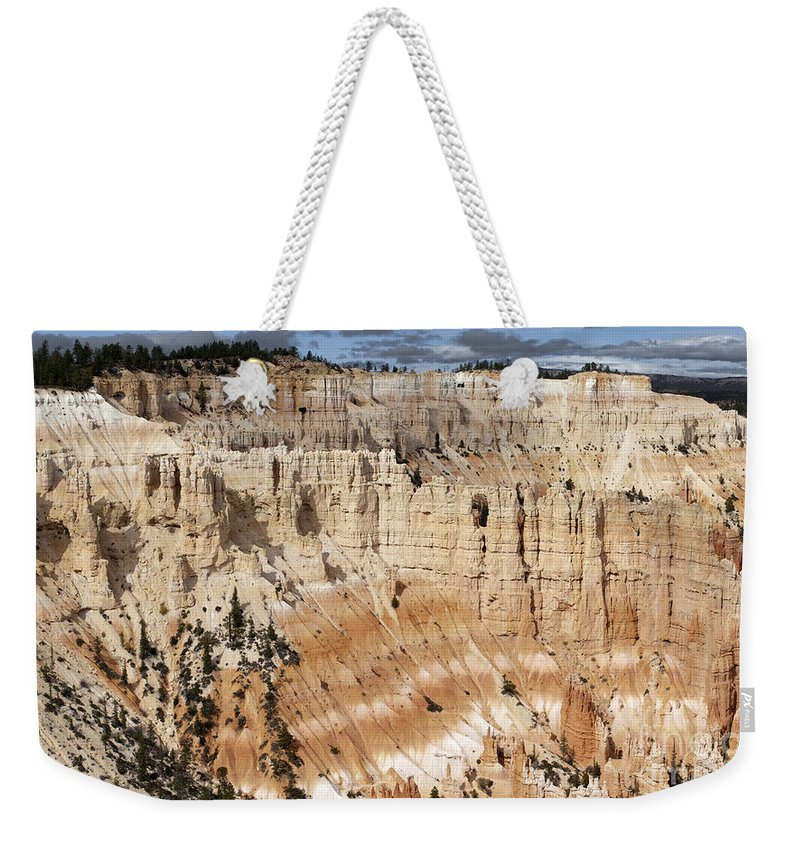 Sandra Bronstein Weekender Tote Bag featuring the photograph Bryce Canyon Vista by Sandra Bronstein