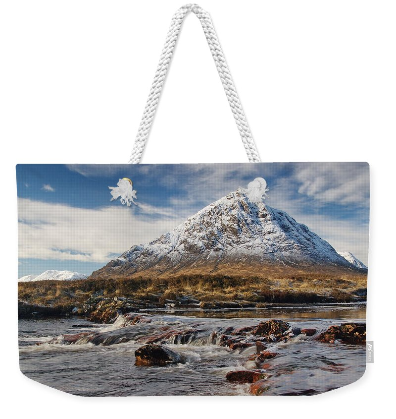 Scotland Weekender Tote Bag featuring the digital art Buchaille Etive Mhor - Glencoe by Pat Speirs