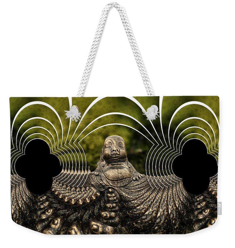 Buddha Weekender Tote Bag featuring the photograph Buddha Fractal by Steve Purnell
