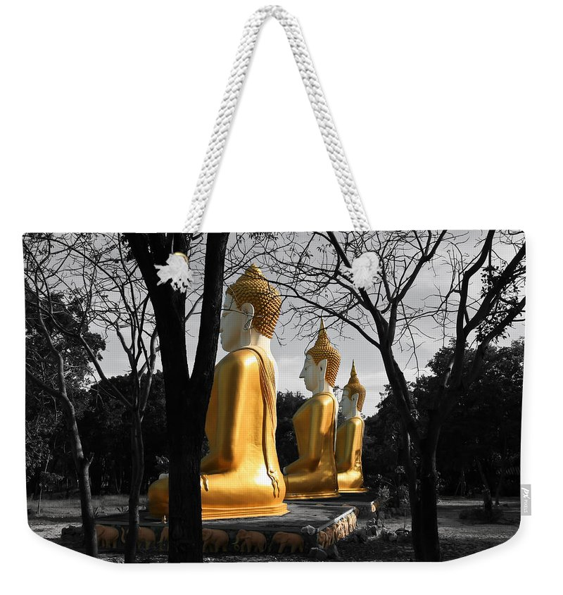 Buddhism Weekender Tote Bag featuring the photograph Buddha In The Jungle by Adrian Evans