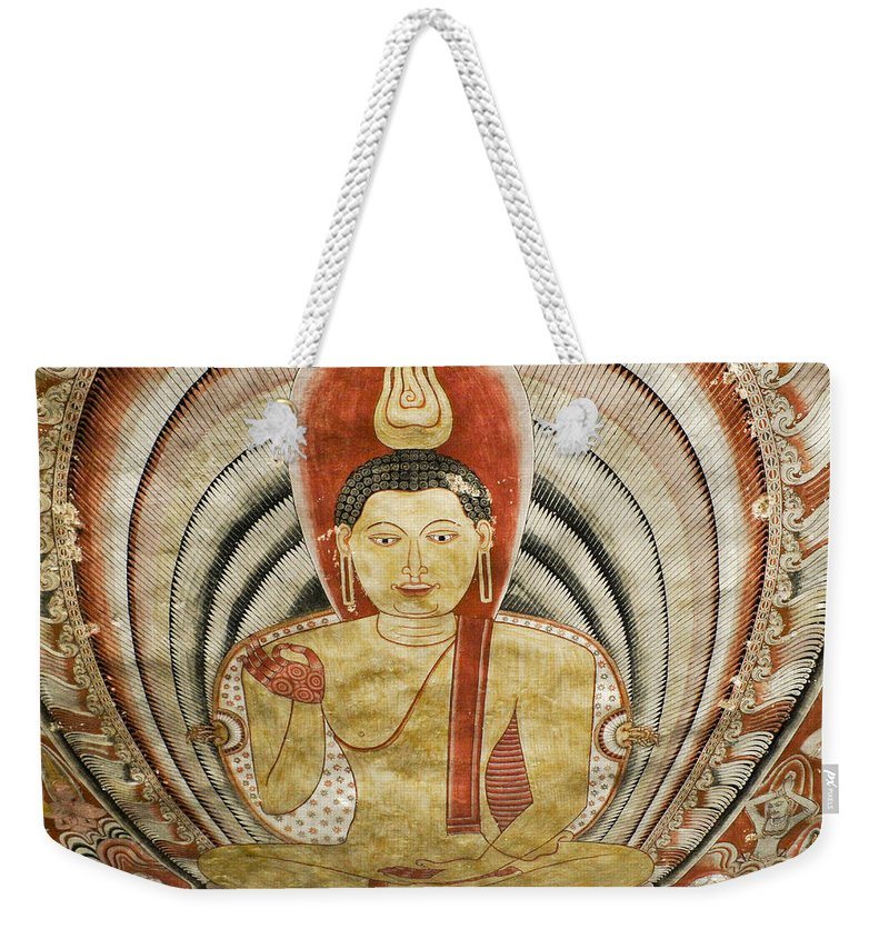 Asia Weekender Tote Bag featuring the photograph Buddha Painting in Sri Lanka by Michele Burgess