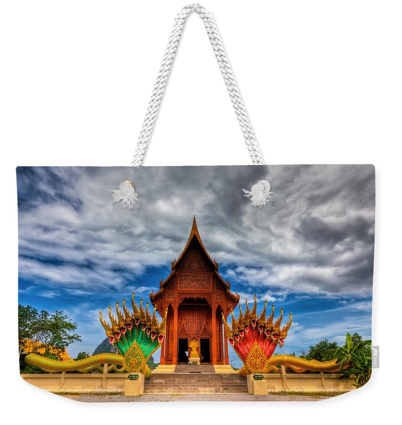 Shrine Weekender Tote Bag featuring the photograph Buddha Temple by Adrian Evans