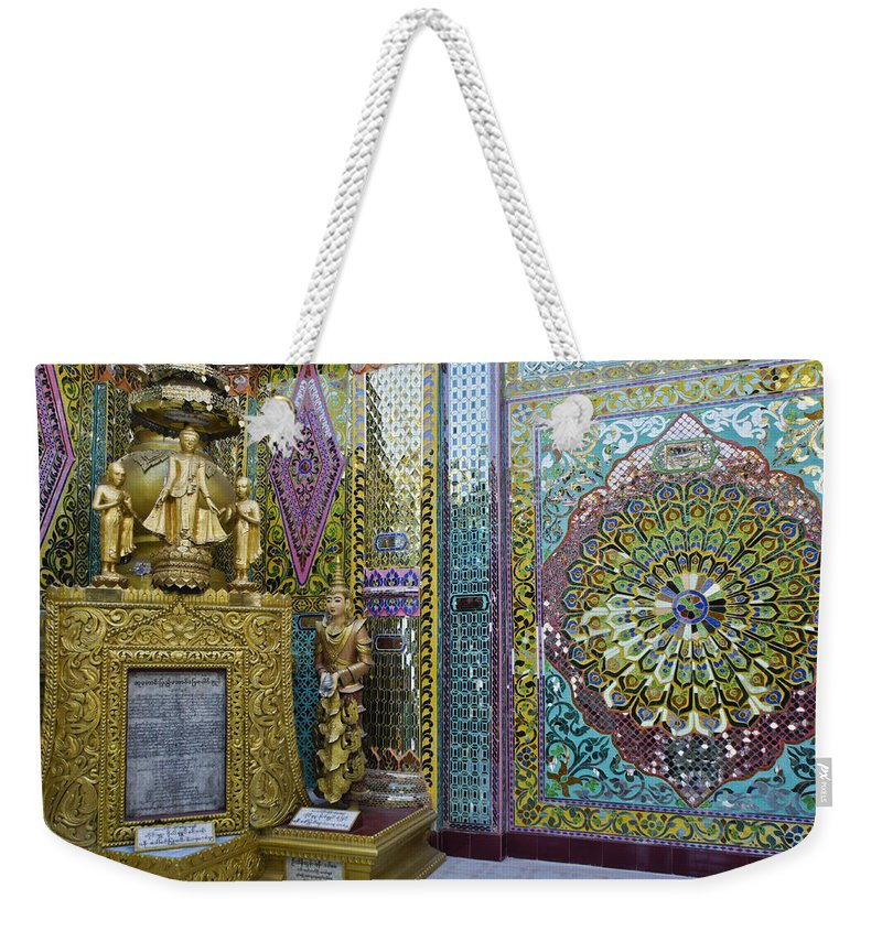 Buddha Weekender Tote Bag featuring the photograph Buddhist Mosaic by Michele Burgess