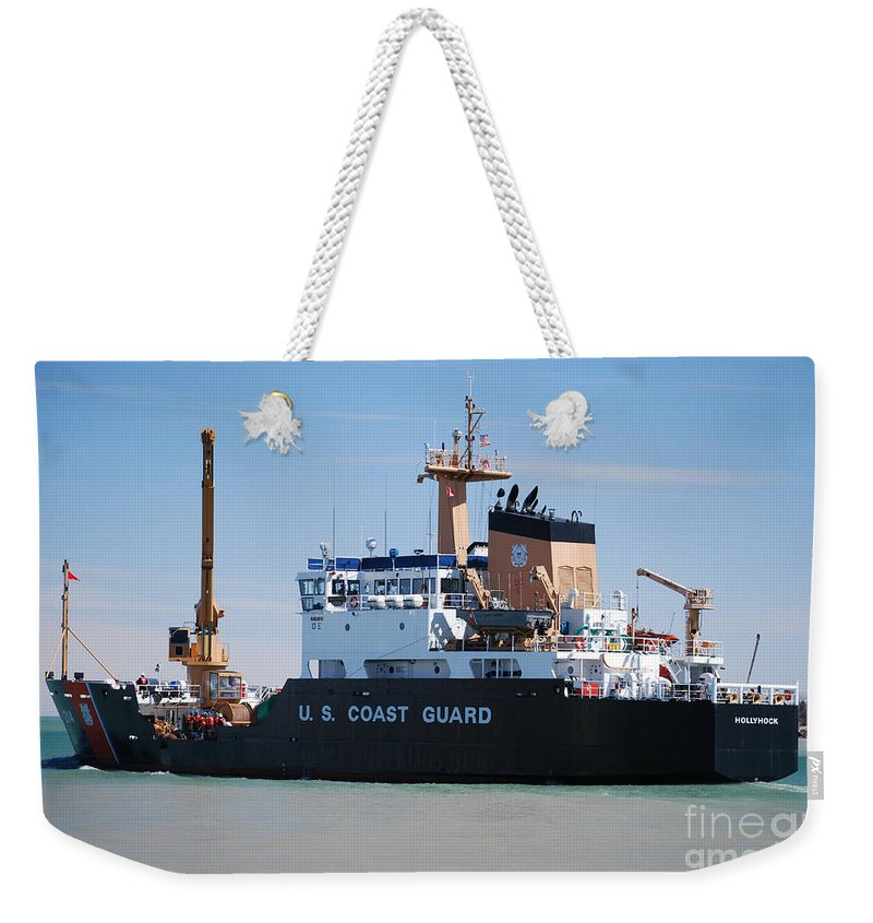 Buoy Changing Weekender Tote Bag featuring the photograph Buoy Changing 2 by Grace Grogan