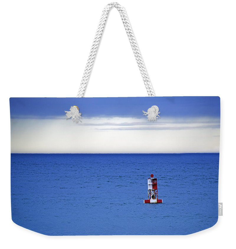 Bass Harbor Head Weekender Tote Bag featuring the photograph Buoy Off Bass Harbor Head by Rick Berk