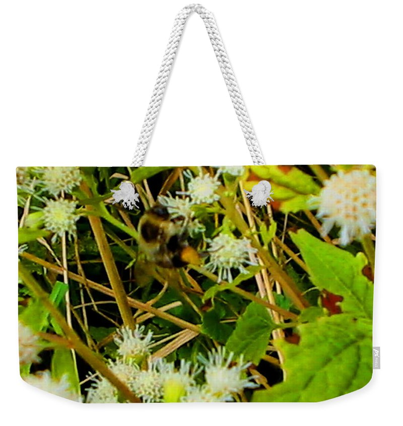 Bee Weekender Tote Bag featuring the photograph Busy Bee by April Patterson