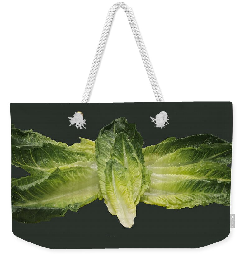 Butterfly Weekender Tote Bag featuring the photograph Butterfly Lettuce by LeeAnn McLaneGoetz McLaneGoetzStudioLLCcom