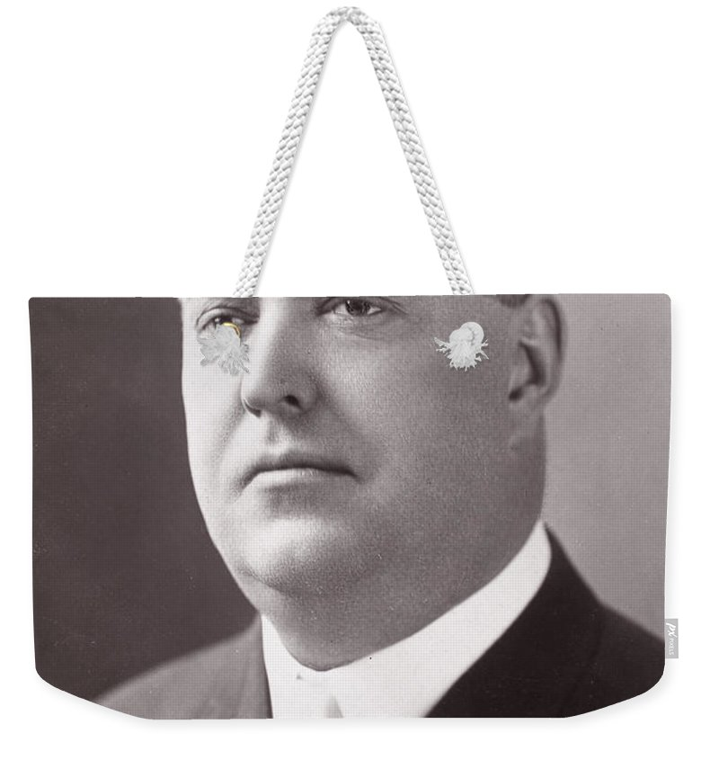 19th Century Weekender Tote Bag featuring the photograph Byron Bancroft Johnson by Granger