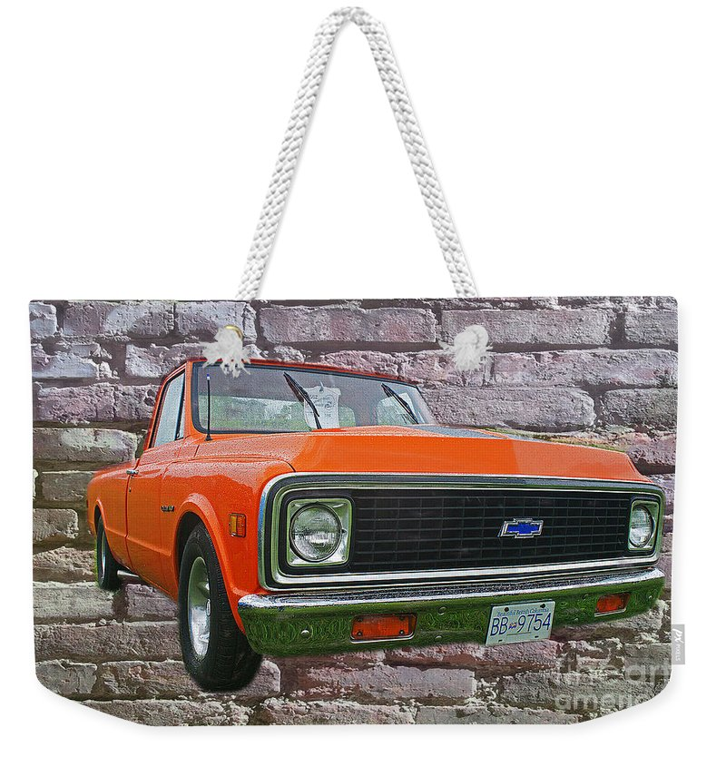 Trucks Weekender Tote Bag featuring the photograph Cadp243-12 by Randy Harris